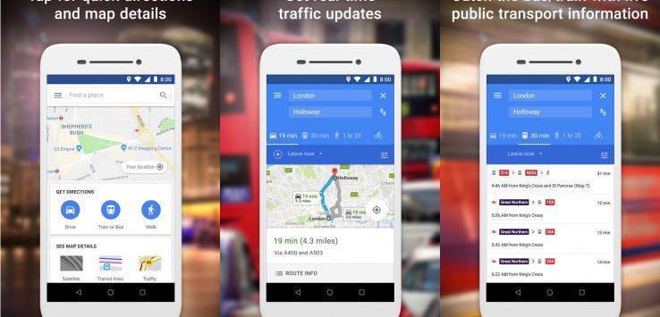 جوجل تطلق نسخة (موفرة) من تطبيق الخرائط