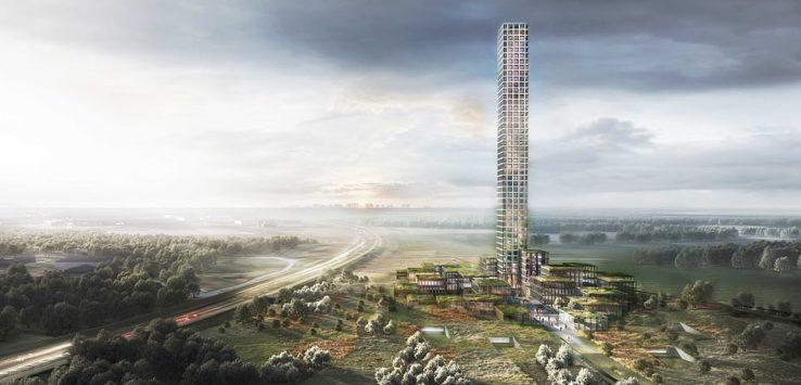 بالصور : البدء في بناء أطول مبنى في غرب اوروبا