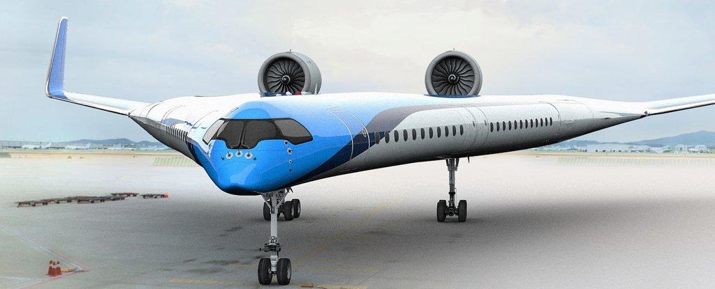 بالصور : طائرة المستقبل تحمل الركاب على الاجنحة