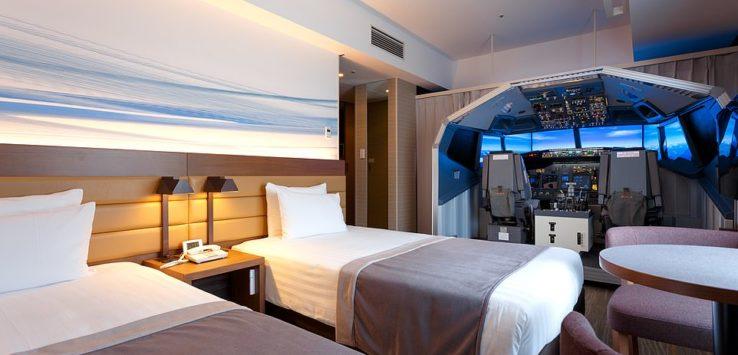 فندق في اليابان يفتتح غرفة للمحاكاة تقدم تجربة طيران كاملة
